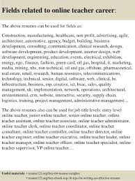 Resume Samples For Teacher by Top 8 Online Teacher Resume Samples
