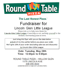 round table willow glen lgll round table may 29 fundraiser lincoln glen little league
