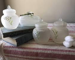 amber glass bathroom jars reusable glass jars