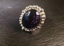 gold stone rings images Blue goldstone ring sandra kerns jewellery jpg