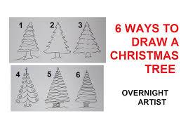 how to draw christmas trees 6 easy ways to draw xmas tree youtube