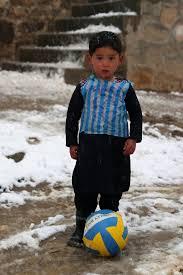 Lionel Messi Halloween Costume Afghan Boy U0027s Plastic Bag Soccer Jersey Viral Times