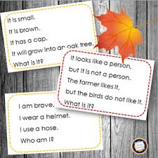 classroom freebies build thanksgiving vocabulary with riddle cards