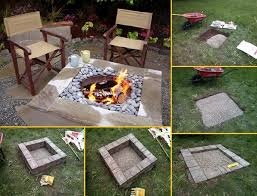 Do It Yourself Backyard Ideas How To Build Square Fire Pit Video Square Fire Pit Squares