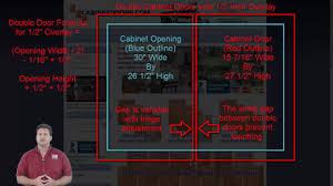 Cabinet Door Sizes Cabinet Doors 101 How To Calculate Cabinet Door Sizes For Half