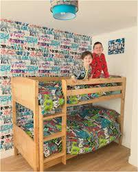 Ikea Schlafzimmer F Kinder Hochbett Aus Holz Für Kinder Mit Coole Tapeten Lapazca
