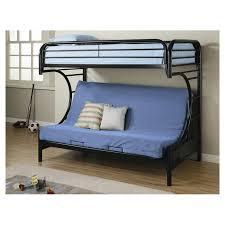 wildon home fall creek twin over full bunk bed u0026 reviews wayfair