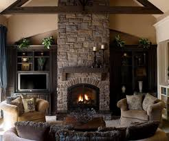 picture gas fireplace table stone wall decorating ideas stone