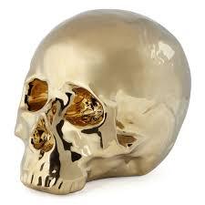 morton skull head chic gold decorative skull z gallerie