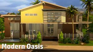modern house building the sims 4 house building modern oasis youtube