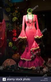 window display of spanish flamenco dancer u0027s dress souvenir