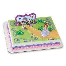 amazon com decopac sofia the first sofia and castle decoset cake