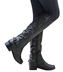 womens boots the knee amazon com syktkmx womens boots winter knee high leather