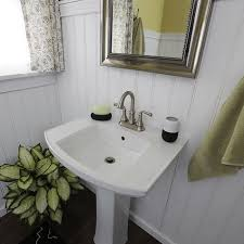 Rough In For Pedestal Sink How To Install A Pedestal Sink