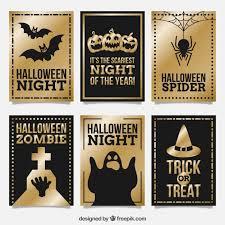 elegant halloween cards vector free download
