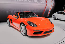 porsche boxster s lease 2017 porsche 718 boxster debuts with turbocharged inline 4