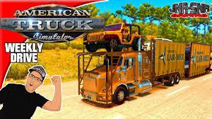 kenworth merchandise usa american truck simulator mods kenworth t800 car carrier weekly