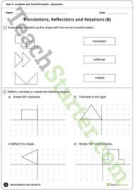 location and transformation worksheets year 5 teaching resource