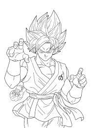 Songoku Super Saiyajin Blue  Dragon Ball Z Kids Coloring Pages