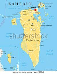 map of bahrain bahrain political map capital manama island stock vector 448252747