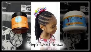 natural hairstyle for kids simple twisted mohawk part 2 curly