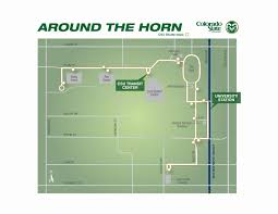 Colorado State University Map by Today Colorado State University Around The Horn On Campus
