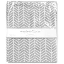 Wendy Bellissimo Baby Clothes Wendy Bellissimo Grey Herringbone Changing Pad Cover Toys