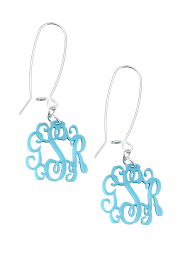 monogrammed earrings jewelry acrylic monogrammed earrings company