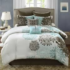 Blue And Brown Bed Sets Blue Brown Comforter Sets Bedding Lovely On With King 8