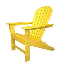 Yellow Adirondack Chairs Patio Chairs The Home Depot - Yellow patio furniture