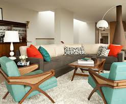 vintage modern living room mid century modern style decorating wayfair