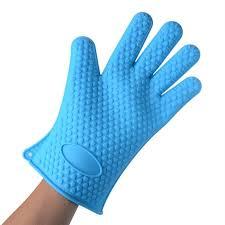 gant de cuisine gant de cuisine silicone anti chaleur bleu achat vente gants de