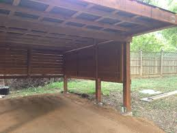 the urban dirt farmer modern design cedar carport