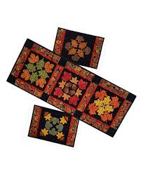table runner placemat set my holidays autumn s finest table runner and placemat set pattern
