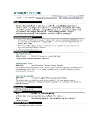 resume for college application template sample college resume