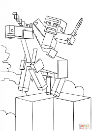 minecraft unicorn coloring page free printable coloring pages