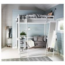 Small Double Bed Frames Ikea by Storå Loft Bed Frame White Stain 140x200 Cm Ikea