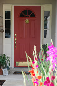 new red door color and surrounding trim products used benjamin