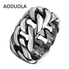style steel rings images Stainless steel with rope punk ring big size rings retro vintage jpg