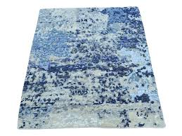 Modern Wool Rugs 2 X3 Knotted Abstract Design Wool And Silk Modern