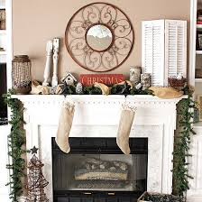 Christmas Decoration For Mantelpiece by Colorize Your Fireplace Building With Christmas Decorations For