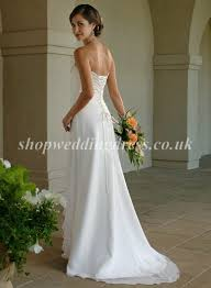 simple wedding dresses uk strapless satin chiffon simple affordable column wedding dresses