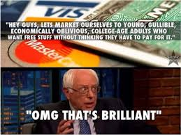 Credit Card Meme - just like a credit card bernie sanders know your meme