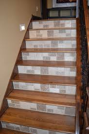Home Design For Stairs by Wood Tile Stairs Wb Designs