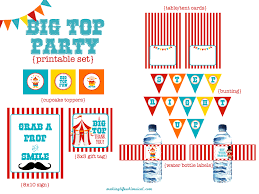 Welcome Home Banners Printable by We Heart Parties Free Printables Big Top Circus Party Free Printables