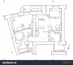 floor plan top view plans standard stock vector 635695328