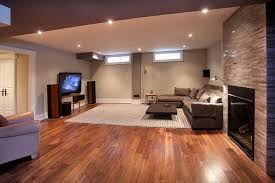 basement remodel ideas wood flooring with area rug basement