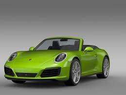convertible porsche 2016 porsche 911 carrera 4s cabriolet 991 2016 3d model max obj 3ds fbx