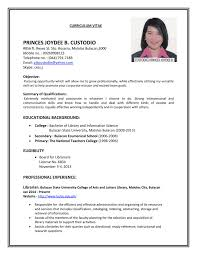 application resume format exles of resume for application cv resume format for