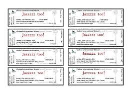benefit dinner ticket template templatezet
